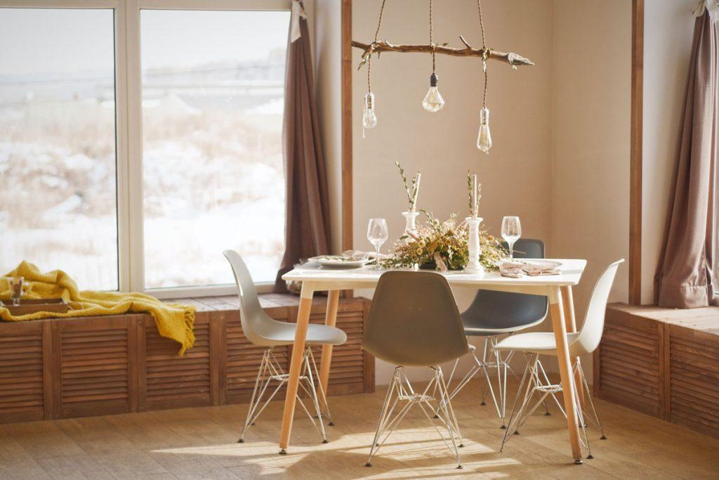 comedor rustico minimalista