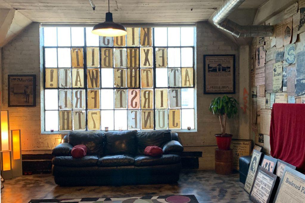 salon rustico industrial y vintage