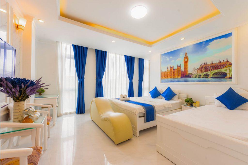 dormitorio eclectico estilo marinero moderno