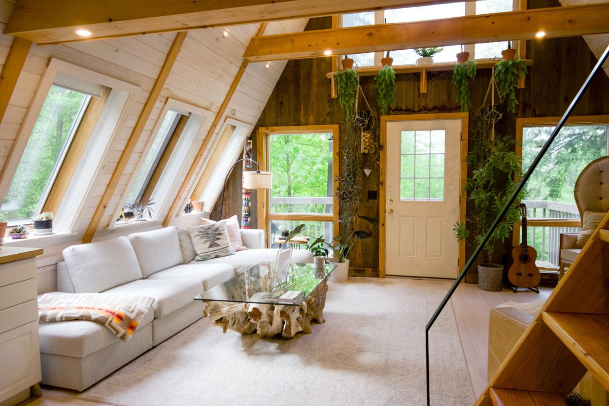 Decoración de interiores para una cabaña o casa de campo