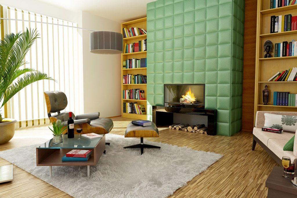 sala de estar de estilo eclectico con decoracion vintage y nordica